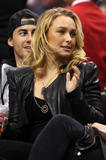 Хайден Панотье, фото 14540. Hayden Panettiere - watching a basketball game at the Staples Center 03/07/12, foto 14540