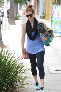 Amy Adams Leaving a Yoga Class in LA 06-30-2014
