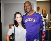JoJo Levesque and Evander Holyfield at the US Airways Center in Phoenix on March 3, 2012