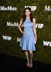 Alexandra Daddario Max Mara Women In Film Face Of The Future Award Event in West Hollywood 15th June '15