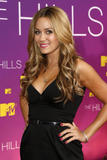 Lauren Conrad shows cleavage in low-cut black dress at Live From the Hills Season Finale in Beverly Hills